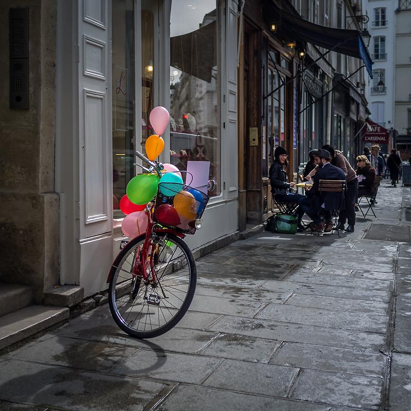 Le vélo-ballons