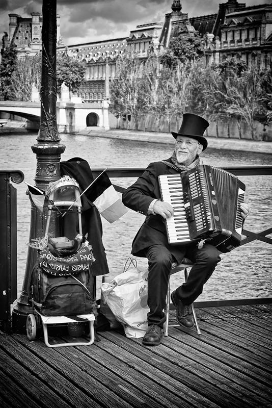 L'accordéoniste du pont des arts