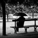 Palais royal sous la pluie
