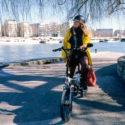 Anaïs à bicyclette…